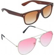 Hrinkar Wayfarer Sunglasses(Brown, Red)