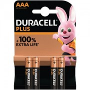 Duracell Plus Power AAA Pack von 4 Batterien (MN2400B4)