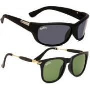 Backley Sports, Wayfarer Sunglasses(Black, Green)