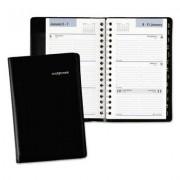 Refillable Weekly Pocket Appt Book, Phone/address Tabs, 3 3/4 X 6, Black, 2017