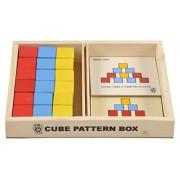 Skillofun Wooden Cubes Pattern Box, Multi Color