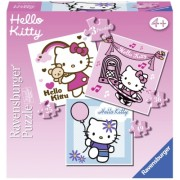 Puzzle Hello Kitty, 3 buc in cutie, 25/36/49 piese Ravensburger