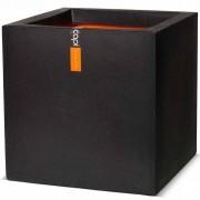 Capi Vaso Urban Smooth quadrado 50x50x50 cm preto KBL904