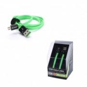 Sony USB кабель Zetton Flat разъем micro USB плоский черный с зеленым ZTLSUSBFCMCBG