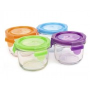 WEANGREEN 4 Pots de Conservation Repas Bébé en Verre - 165 ml