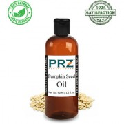 PRZ Pumpkin Seed Cold Pressed Carrier Oil (50ML) - Pure Natural & Therapeutic Grade Oil For Aromatherapy Body Massage Skin Care & Hair ReGrowth