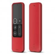Elago R2 Slim Case - удароустойчив силиконов калъф за Apple TV Siri Remote (червен)