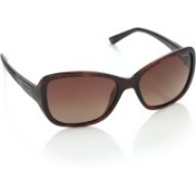 Polaroid Over-sized Sunglasses(Brown)