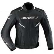 Ixon Stunter Leather Jacket Black White L