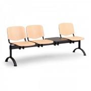 Kovo Praktik Dřevěné lavice ISO II, 3-sedák + stolek, černé nohy