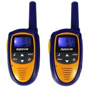 Retevis Rt31 Kids Walkie Talkie 0. 5W 8 Channels Talkies Vox LCD Display Licenss-Free Two Way Radio for Children Garden Theme Park Supermarket Radios (1 Pair, Blue and Yellow)