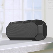 NEWRIXING NR-4000 Bluetooth Heavy Subwoofer Speaker Support FM/Aux/TF Card - Black