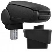 Подлакътник [pro.tec]® Audi A1 (8X) с контейнер за съхранение Текстил, Черен