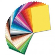 folia Coloured Card - 50 sheets of coloured board in 50 assorted vivid colours. Sheet size 25cm x 35cm. 300gsm weight card.