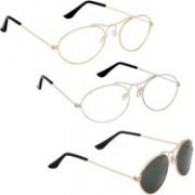 Phenomenal Oval Sunglasses(Clear, Green)