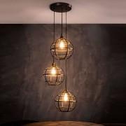 LUMZ Koperkleurige hanglamp met bolvormige kap