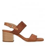 Sacha Bruine sandalen met gevlochten detail