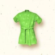 Bata para Niños Tea Stain Ecobambu - Verde Limón