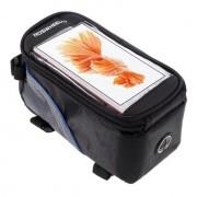 Roswheel - Fietshouder Frametas Extra Groot Zwart Blauw (160 x 80mm)