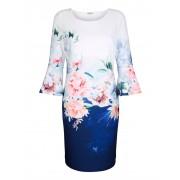 Alba Moda Kleid zweifarbig gearbeitet, blau