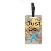 Nutcaseshop Just Go Map Luggage Tag(Multicolor)