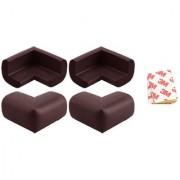Kuhu Creations Premium Baby Kids Safety Corner Edge Cushion Protector Guard. (48 Units Dark Brown)