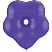 "Balon latex floare, GEO Blossom 6"", Quartz Purple, Qualatex 43629"