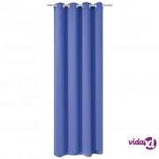 vidaXL Zavjesa za Zamračivanje s Metalnim Prstenovima 270x245 cm Plava