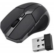 EY Ratones Ratón óptico Inalámbrico De 2,4 GHz USB 2.0 Receptor Para PC Portátil Negro.