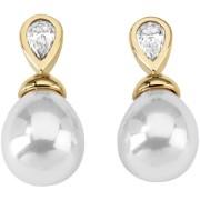 Majorica Cercei din argint placat cu aur cu perle reale și piatră 12267.01.1.000.010.1