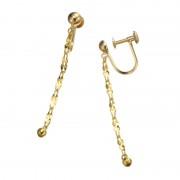 24K/18K ツイストチェーン イヤリング/ピアス【QVC】40代・50代レディースファッション