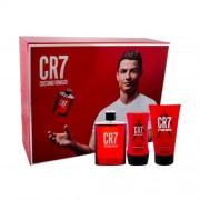 Cristiano Ronaldo CR7 set cadou Apa de toaleta 100 ml + Gel de dus 150 ml +Balsam dupa ras 100 ml pentru bărbați