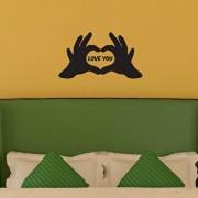 Sticker decorativ de perete Sticky, 260CKY1042, Negru