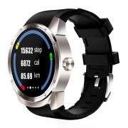 Smart Watch K98H 1.3-inch Round Screen GPS 3G Watch Phone with Android 4.1 - Silver Color