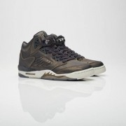 Jordan Brand Air Jordan 5 Retro Premium Hc Black/Black/Light Bone/Metallic Field