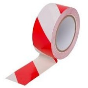 Banda adeziva de marcare alb/rosu 50mm x 33m OPG
