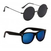just style Wayfarer, Round Sunglasses(Blue, Black)