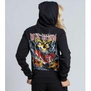 kapucnis pulóver női - GREATEST HITS - METAL MULISHA - M157S21100.01_BLK