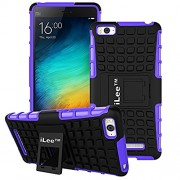 iLee Premium Kickstand Hybrid Back Cover for Xiaomi Mi 4i - Color: Purple (12 Months Warranty)