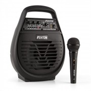 ST032 Impianto PA Mobile 50W Bluetooth USB microSD MP3 AUX VHF Batt. incl. Microfono