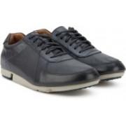 Clarks Triturn Race Dark Blue Lea Running Shoes For Men(Navy)