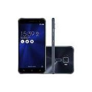Smartphone Asus Zenfone 3 Dual Chip Android 6.0 Tela 5.2 Snapdragon 16GB 4G Câmera 16MP - Preto Safira