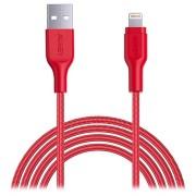 Aukey CB-AL2 MFi USB-C / Lightning-kabel - 2m - Rood