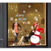TipTop Walls ABQ9801 Bling Christmas Style julSnowman Mönster Löstagbar PVC Dekaler Room