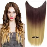 Flip in vlasy - 55 cm dlouhý pás vlasů - odstín 4 T 24 - Světové Zboží