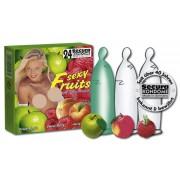 """Profilattici """"Sexy Fruits"""" Colorati Ed Aromatizzati - 24 Pezzi"""