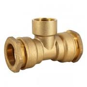 """Raccord laiton - Té 90° taraudé laiton pour tube PE Ø20-1/2"""" - Générique"""