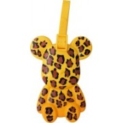 Super Drool Leopard Mask Bear Luggage Tag(Yellow)