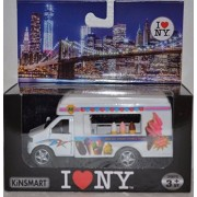 5' New York City Friction Powered Die Cast Metal Car Model Ice Cream Truck