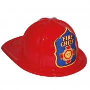 Merkloos Brandweerhelm rood verkleed accessoire voor kinderen